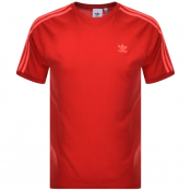 Adidas Originals BLC 3 Stripes T Shirt Red